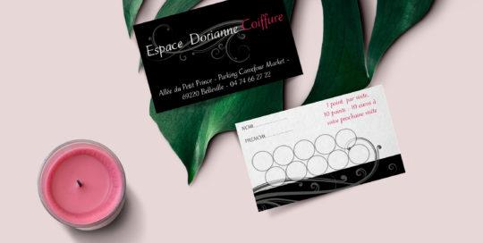 Carte de fidélité Espace Dorianne Coiffure