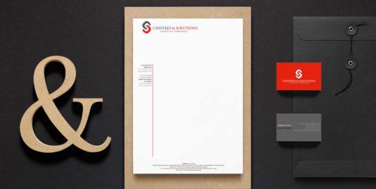 Tête de lettre Cabinet Comptable Chiffres & Solutions