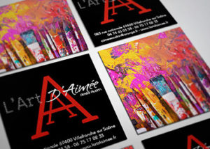 Carte de visite carrée Artiste Peintre