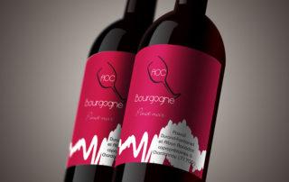 Etiquette de vin AOC BOURGOGNE Pinot Noir Pascal Durand Fontanel - Alban Racadot 71700 Chardonnay