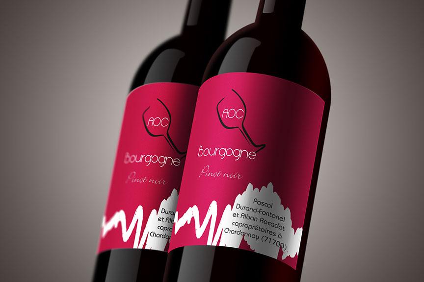 étiquette de vin AOC Bourgogne