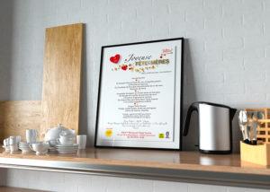 Flyer menu Fêtes des mères