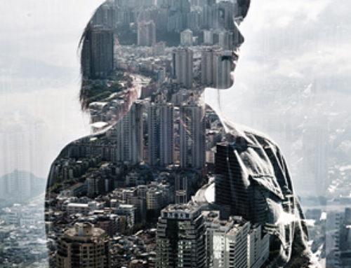 Une silhouette dans la ville par Jasper James