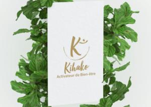 Création logo bien-être Agence SAORI : Kihako