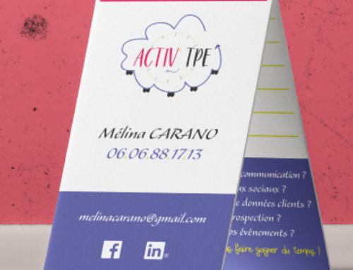 Carte de visite Activ'TPE Mélina Carano