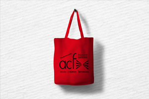 Sac convention pour la foire de Lyon pour la société ACF- Accès Création Fermetures Avenue Lavoisier 01600 Massieux