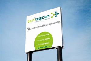 Panneau DSMI TELECOM 228 rue de l'Ecossais 69400 Limas