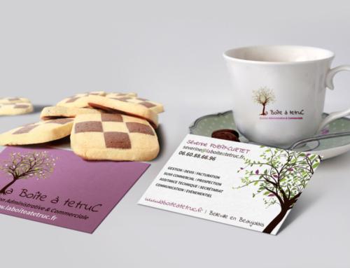 Cartes de visite et logo de la Boîte à tetruC
