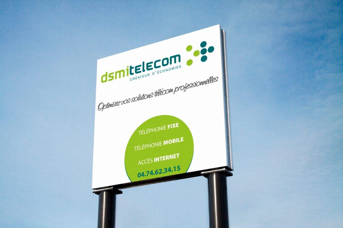 Panneau signalétique exterieure DSMI TELECOM SAORI