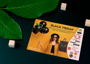 creation flyer black friday parc des bouchardes 71000 crêches sur saone zone commerciale patricia foillard agence saori