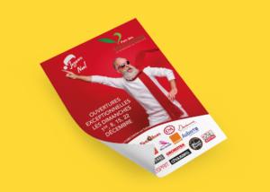 creation flyer de communication noel parc des bouchardes 71000 crêches sur saone ouverture exceptionnelle zone commerciale patricia foillard agence saori
