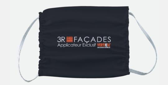 Masque de protection en microfibre face au Covid-19 avec logo entreprise