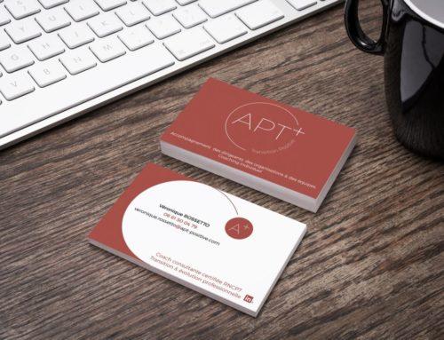 Création logo et cartes de visite Apt + Transition Positive