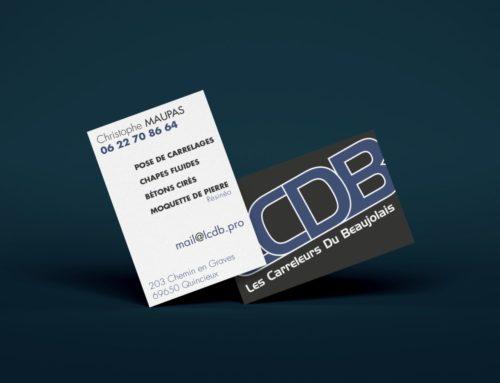 Carte de visite LCDB pelliculage sablé