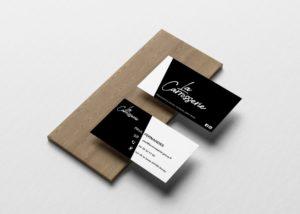 Création carte de visite et logo Paul Fernandes La Carrosserie Genay
