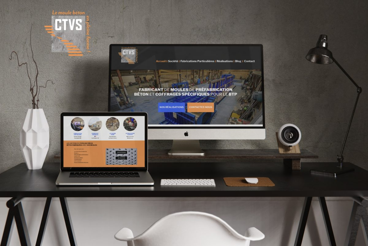 Création site internet CTVS Fabricant de moules de préfabrication béton et coffrage spécifique pour le BTP Trévoux près de Lyon