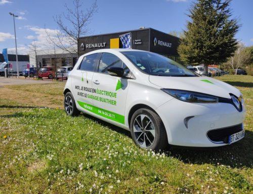 Flocage véhicule électrique – Garage Buathier