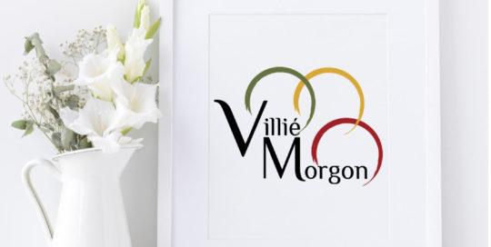 création logo mairie de villie-morgon - beaujolais rhone 69