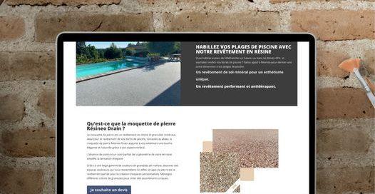 création visuelle site internet moquette de pierre quincieux 69 LCDB
